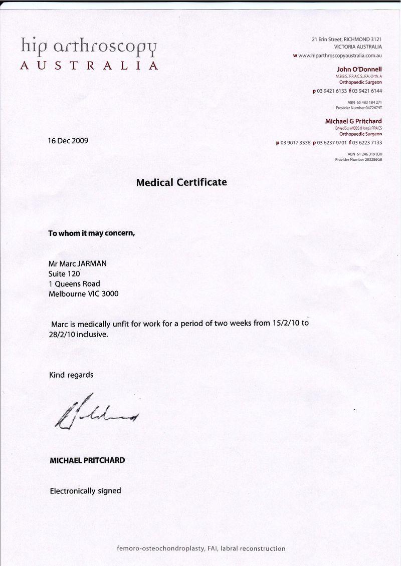 Medical certificate template medical certificate letter sample yadclub Images