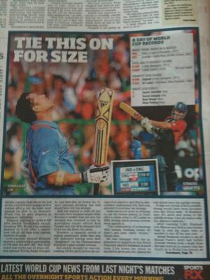 Sachin Tendulkar World Cup Records. World Cup Cricket: Sachin