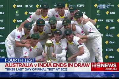 Cricket: Australia defeat in India in their 4 test series with stand-in captain Steve Smith named man of the series. (Channel 9, 2015 Champions)